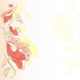 Флористическая предпосылка, цветок иллюстрация штока