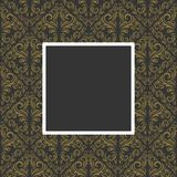 флористическая рамка золотистая Стоковые Фото