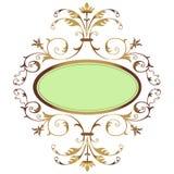 флористическая рамка золотистая Стоковое фото RF
