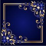 флористическая рамка золотистая Стоковые Изображения RF
