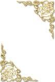 флористическая рамка золотистая Стоковое Фото