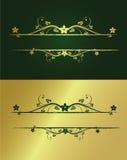 флористическая рамка золотистая Стоковая Фотография RF