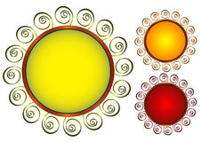 флористическая рамка круглая Стоковые Фотографии RF