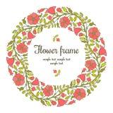 флористическая рамка круглая Стоковые Изображения RF