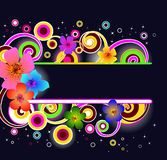флористическая рамка самомоднейшая Стоковое Изображение