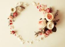 Флористическая рамка свадьбы Стоковые Фотографии RF
