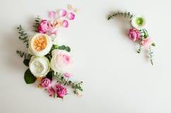 Флористическая рамка свадьбы Стоковое Изображение