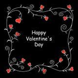 Флористическая рамка сердца валентинки бесплатная иллюстрация