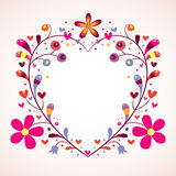Флористическая рамка сердца Стоковое Изображение RF