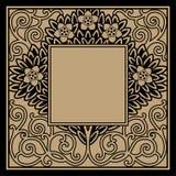 флористическая рамка иллюстрация штока