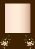 флористическая рамка иллюстрация вектора