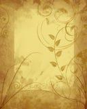 флористическая рамка grungy Стоковое фото RF