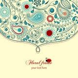 флористическая рамка paisley Стоковые Фотографии RF