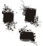 флористическая серия grunge рамки Стоковые Изображения RF