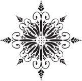 флористическая снежинка Стоковая Фотография
