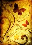 флористическая старая бумажная картина Стоковые Фотографии RF