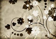 флористическая старая бумажная текстура картины Стоковая Фотография RF
