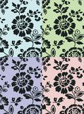 флористическая текстура комплекта 2 Стоковое Изображение RF