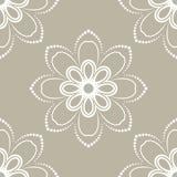 Флористическая точная безшовная картина вектора Стоковое Фото
