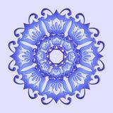 Флористическая фиолетовая мандала Стоковые Фотографии RF