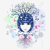 Флористическая девушка Стоковые Фотографии RF