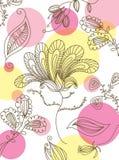 флористические безшовные обои Стоковое Изображение