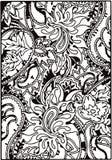 Флористические взрослые мандалы чертежа стоковые фото