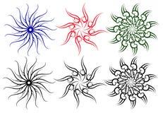Флористические круглые дизайны искусства стоковые изображения rf