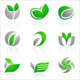 флористические логосы Стоковая Фотография RF