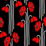 флористические маки картины безшовные Стоковое фото RF
