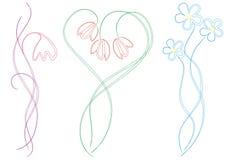 флористические образцы орнамента иллюстрации Стоковые Изображения