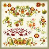 Флористические орнаменты в восточном типе иллюстрация штока