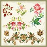 Флористические орнаменты в восточном типе бесплатная иллюстрация