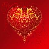 флористические орнаменты сердца Стоковые Фотографии RF