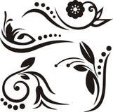 флористические орнаменты Стоковые Изображения RF