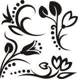 флористические орнаменты иллюстрация вектора