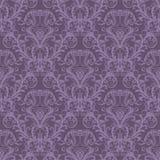 флористические пурпуровые безшовные обои Стоковые Изображения RF