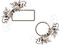 флористические рамки Стоковая Фотография RF