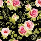 флористические розы картины безшовные Бесплатная Иллюстрация