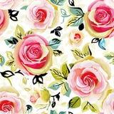 флористические розы картины безшовные Иллюстрация вектора