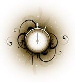 флористические свирли секундомера Бесплатная Иллюстрация