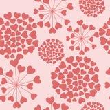флористические сердца делают по образцу безшовное Стоковая Фотография