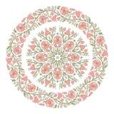 Флористические цветки пинка мандалы Стоковые Изображения