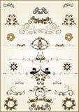 Флористические элементы рамки Стоковое Фото