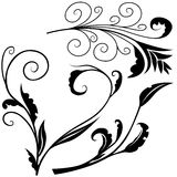 Флористические элементы h стоковое изображение rf