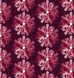 Флористический безшовный геометрический красный цвет Стоковое Фото