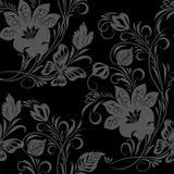 флористический безшовный сбор винограда иллюстрация вектора