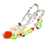 флористический ботинок стилизованный Стоковая Фотография