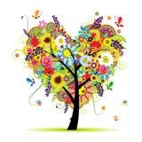 флористический вал лета формы сердца Стоковые Фото