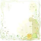 флористический вектор зеленого цвета рамки Стоковое Фото